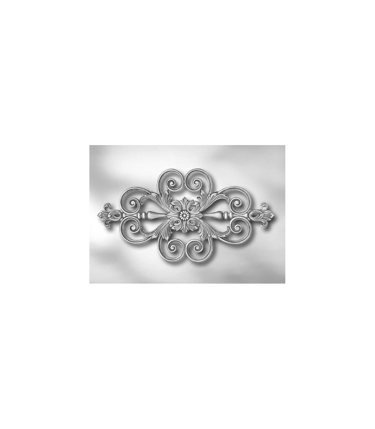 Feuille D Inox À Coller elément décoratif simple face feuille d'acanthe