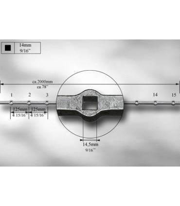 Traverses à trous renflés entraxe 125 mm