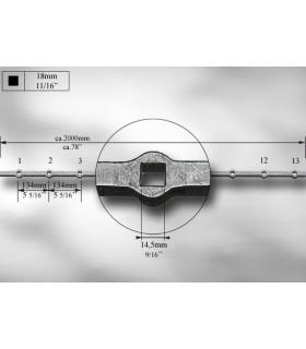 Traverses à trous renflés entraxe 134 mm