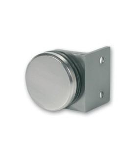 Equerre de fixation ronde pour volume en verre sur un mur