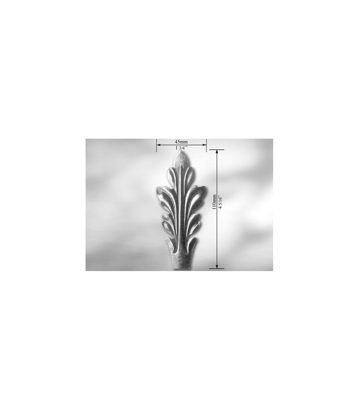 """Feuille D Inox À Coller elément décoratif """"feuille d'acanthe"""""""