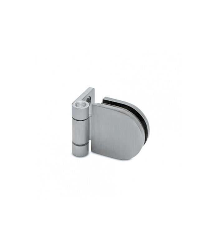 Charnière pour porte en verre fixation mur / verre
