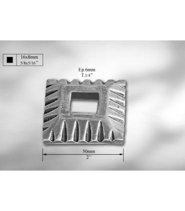 Platine cache-scellement pour 16 x 8 mm