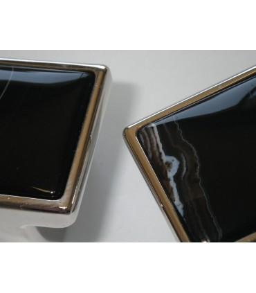 Bouton en Pierre d'Onix dim.32 x 32 mm
