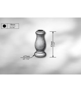 Manchon décoratif en fonte grise hauteur 83 mm