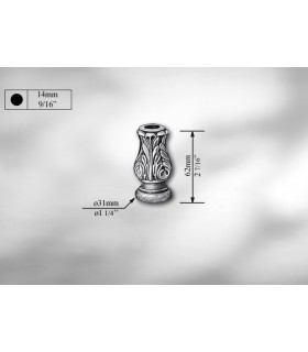 Manchon décoratif en fonte grise hauteur 60 mm