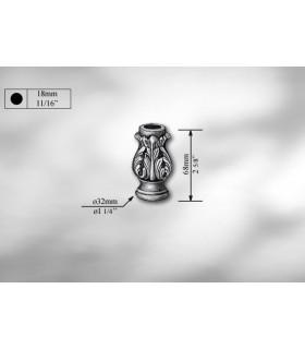 Manchon décoratif en fonte grise hauteur 69 mm