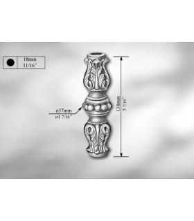 Manchon décoratif en fonte grise hauteur 138 mm