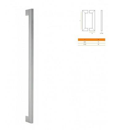Paire de poignée rectangulaire 32 X 16 mm