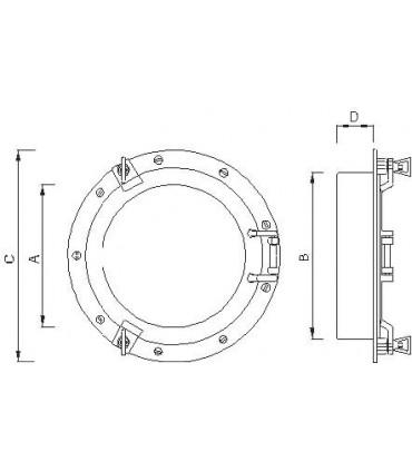 Hublot de cloison diamètre 300 mm