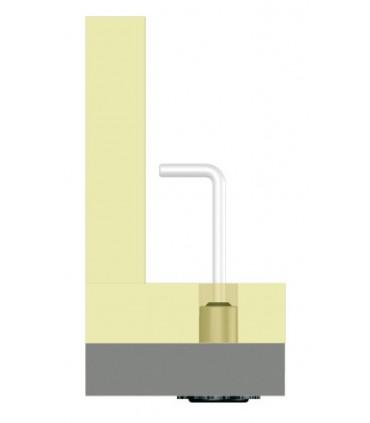 Pied de meuble hauteur 16 mm avec vérin oscillant
