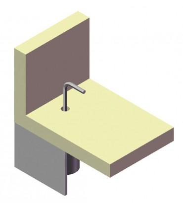 Pied de meuble hauteur 60 mm avec vérin oscillant