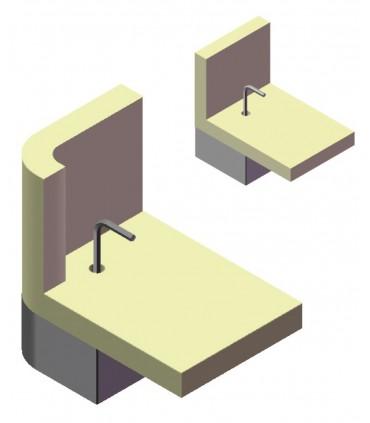 Pied de meuble hauteur 40 mm avec vérin oscillant