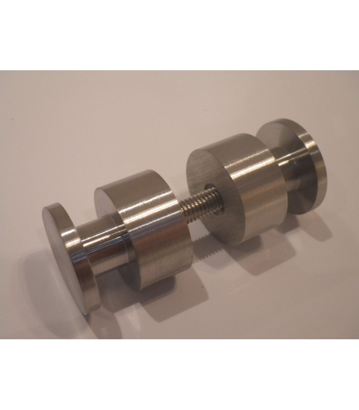 Poignée bouton inox brossé Ø 25 mm