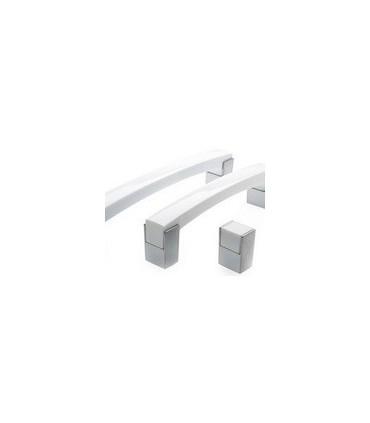 Bouton de meuble Cube blanc