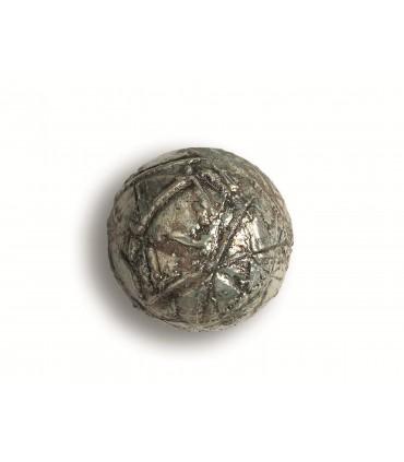 Poignée bouton Raku riflessato or