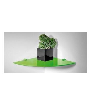 Tablette murale en verre épaisseur 6 mm pour angle de mur par Bolis Italia