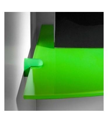 Tablette en verre pour angle de mur