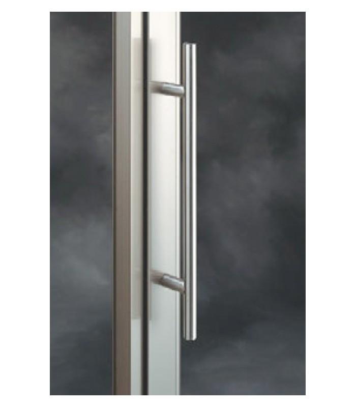 Poignée baton de maréchal inox brossé