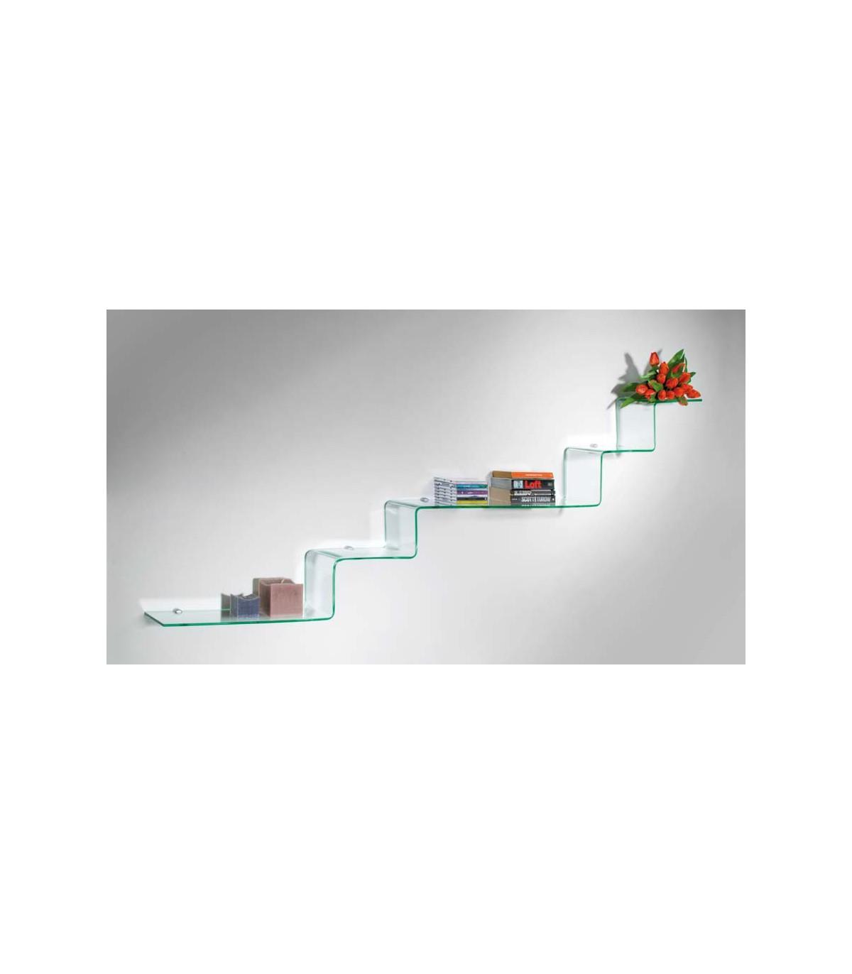 Etagere Murale En Escalier etagère murale en verre série step par bolis italia