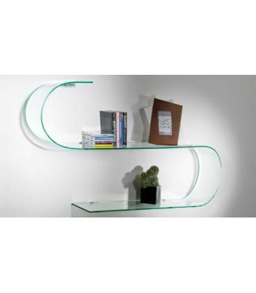 Set de 2 étagères murales en verre série Surf