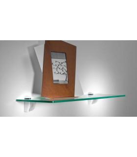Tablette murale en verre série Linéa Longueur 600 mm par Bolis Italia