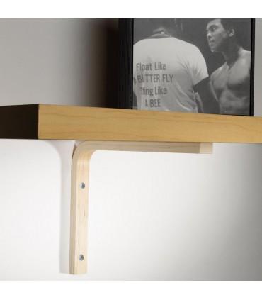 Support en bois pour étagère bois Elle