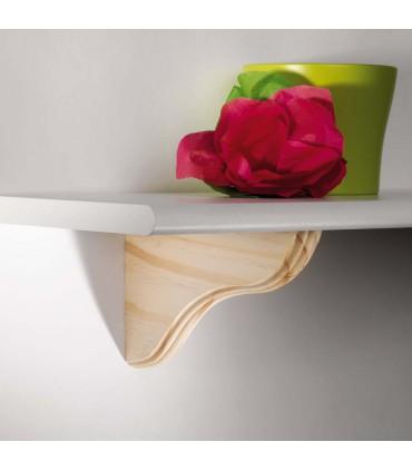 Support en bois pour étagère bois Onda par Bolis Italia