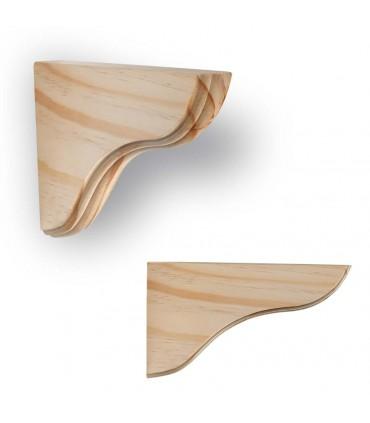 Support en bois pour étagère bois Onda