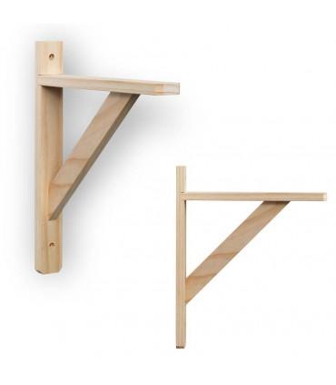 Support en bois pour étagère bois Squadra