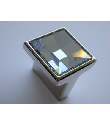 Poignée bouton face crystal