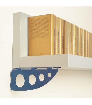 Support pour étagère bois Serenissima bleu