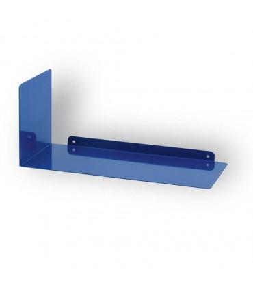 Etagère acier laqué Virgule bleu