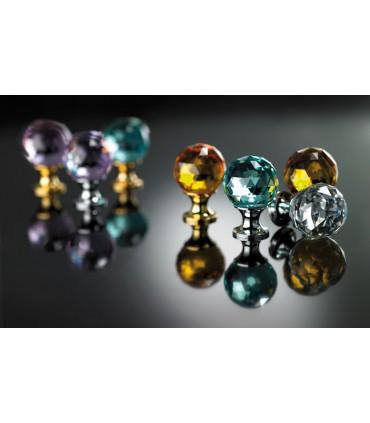 Poignée bouton boule crystal couleur