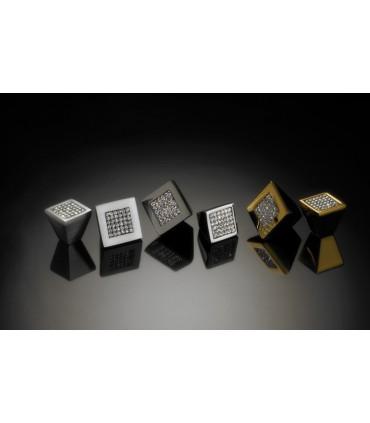 Poignée bouton carré conique série Mesh