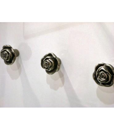 Poignée bouton fixe rose gris antique