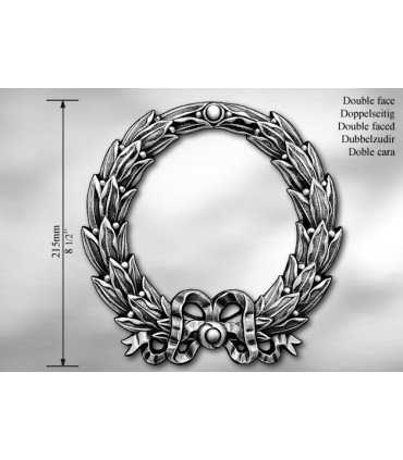 """Elément décoratif double face """"couronne de laurier"""""""