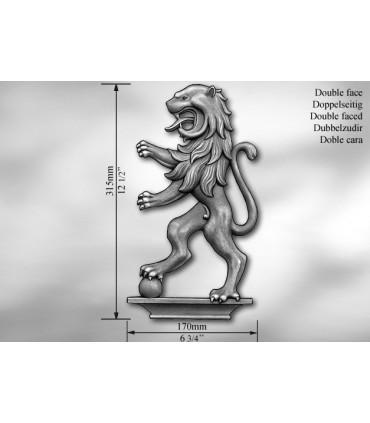 """Elément décoratif double face """"lion"""""""