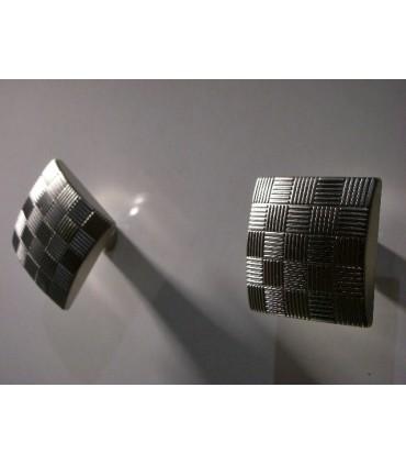 Bouton de meuble Country carré par Estamp