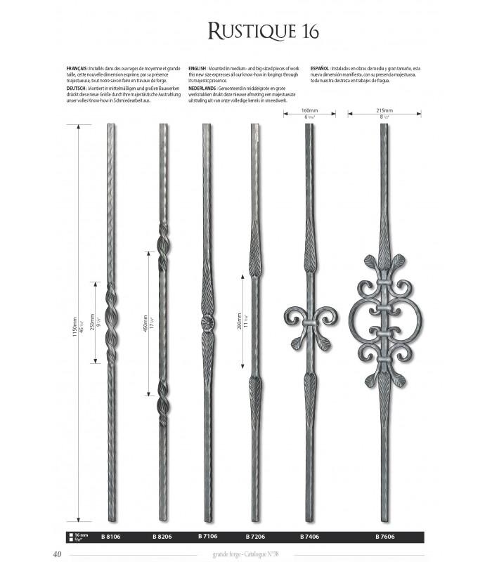 Balustre avec élément décoratif double torsade