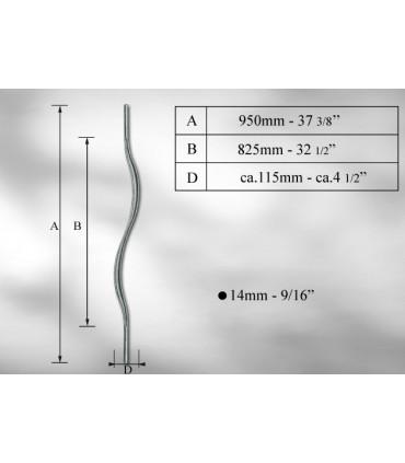Balustre en fer rond Ø 14 mm