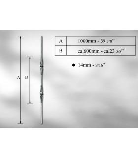 Balustre en fer rond Ø 14 -16 et 18 mm