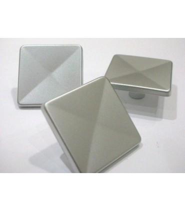 Poignée bouton C-Square chromé mat