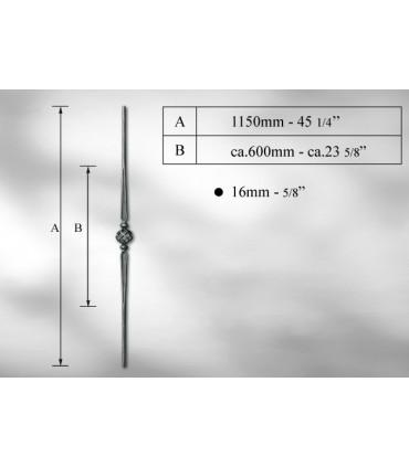 Balustre en fer rond Ø 14 -16 mm