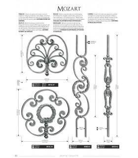 Balustre avec élément décoratif-style volute