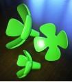Patère série Flowers set de 3 pièces en vert