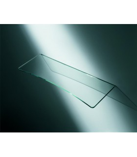 Tablelle verre transparent concave