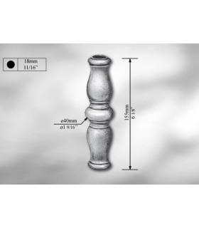 Manchon décoratif en fonte grise hauteur 155 mm