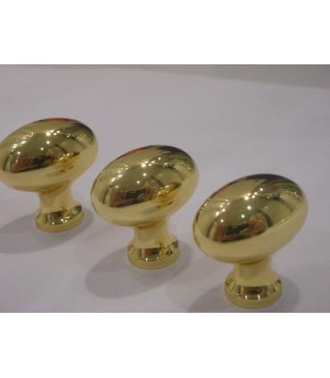 Poignée bouton Mushroom doré