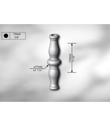 Manchon décoratif en acier tournés hauteur 150 mm